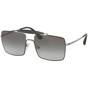 Prada Sunglasses Black/Gunmetal w/Grey
